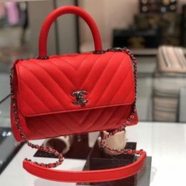 Chanel Small Coco Handle in Red