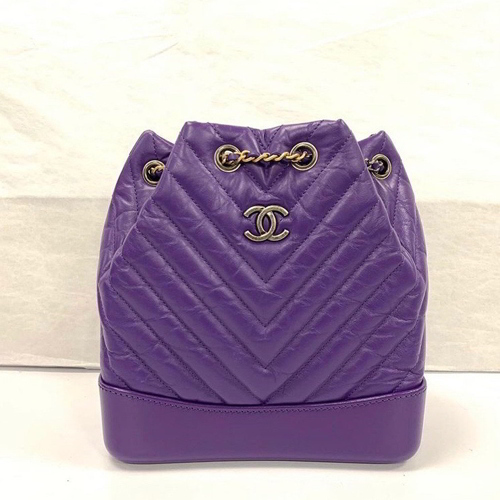 Chanel Small Gabrielle Backpack in Purple
