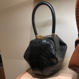 Gabriela Hearst Demi Bag in Black Crocodile