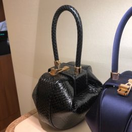Gabriela Hearst Demi Bag in Black Water Snake