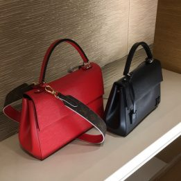 LV Cluny MM in Red Epi Leather