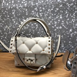 Valentino Candy Quilted Bag in Ivory