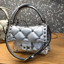 Valentino Candy Quilted Bag in Silver