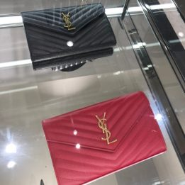 YSL Large WOC in Black and Red with Gold Hardware