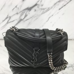 YSL Medium College Monogram Black with RHW