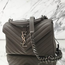 YSL Medium College Monogram Grey with RHW