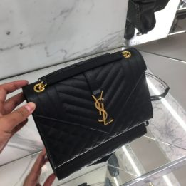 YSL Medium Quilted monogram leather shoulder bag