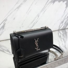 YSL Medium Sunset in Black SHW