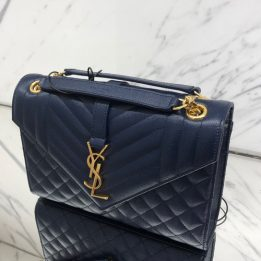 YSL Small Bag in Navy GHW