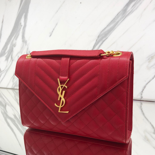 YSL Small Bag in Red GHW